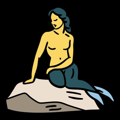La sirenita dinamarca ilustración