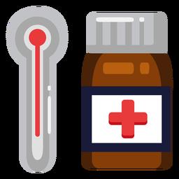 Icono de pastillas termómetro