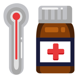 Thermometer pills icon