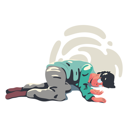 Tired man character Transparent PNG