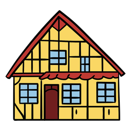 Traditional danish house illustration