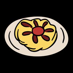 Ilustración de comida tradicional danesa
