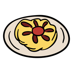 Traditional danish meal illustration
