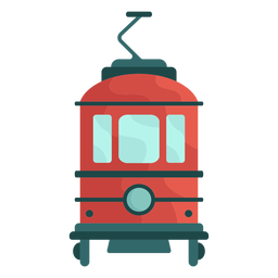 Ilustración de tranvía