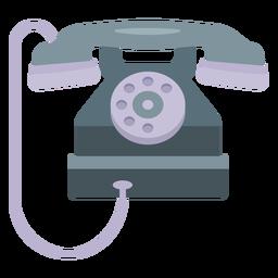 Ilustração de telefone de tubo