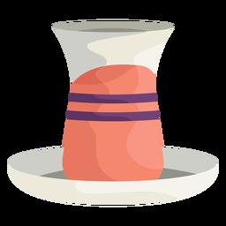 Ilustración de jarrón turco
