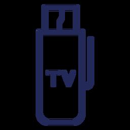 Tv hdmi drive icono de trazo
