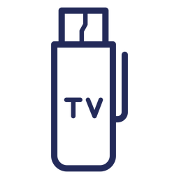 Tv hdmi drive stroke icon