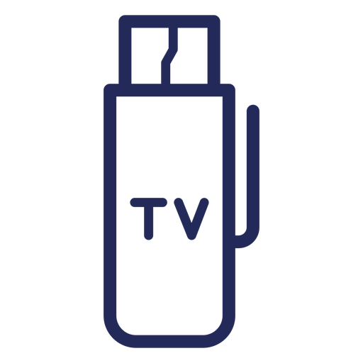 Tv hdmi drive stroke icon Transparent PNG