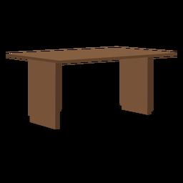 Ilustração de mesa de madeira de duas pernas