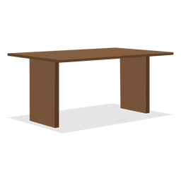 Two leg wooden table illustration