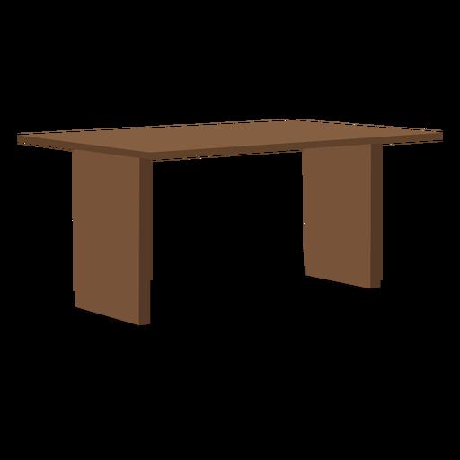 Ilustración de mesa de madera de dos patas
