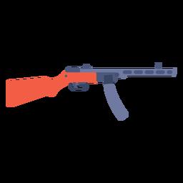 Type 50 submachine gun flat