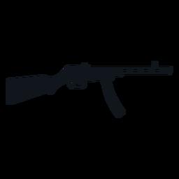 Type 50 submachine gun silhouette