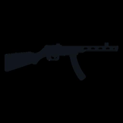 Silueta de ametralladora tipo 50 Transparent PNG