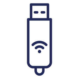 Usb wifi stroke icon