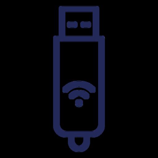 Icono de trazo wifi usb