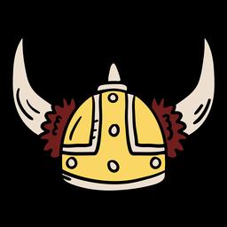 Ilustración de casco vikingo