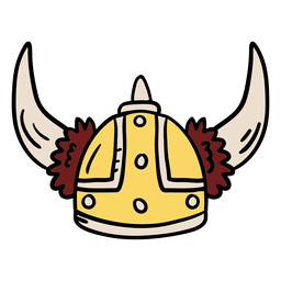 Viking helmet illustration