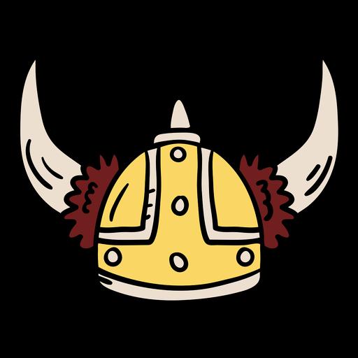Ilustración de casco vikingo Transparent PNG