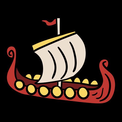 Ilustración de barco vikingo Transparent PNG