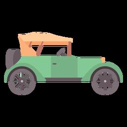 Carro antigo plana