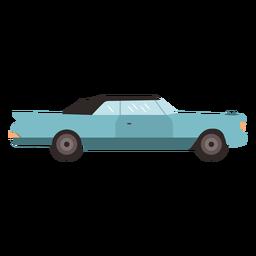 Vintage sedan car flat