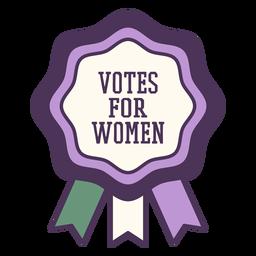 Votos para emblema roxo feminino