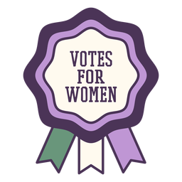 Votos para mulheres distintivo roxo