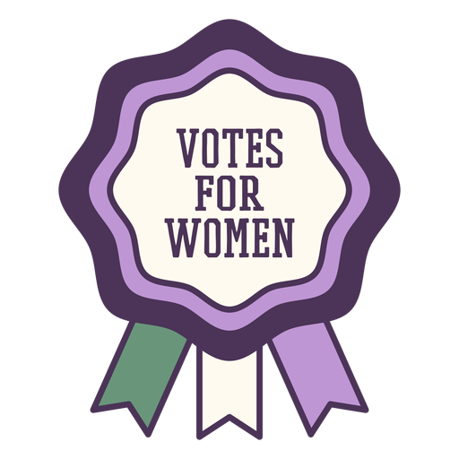 Votos para mujer insignia morada Transparent PNG