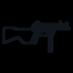 Walther mp machine gun silhouette