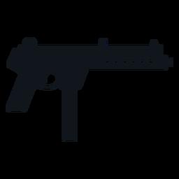 Silhueta de metralhadora Walther mpl