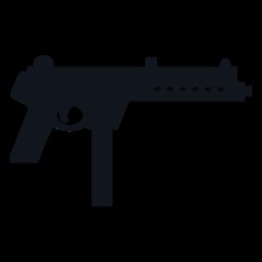 Walther mpl machine gun silhouette Transparent PNG