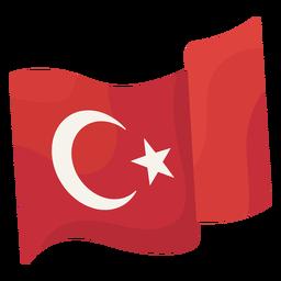 Ondeando la bandera estambul ilustración