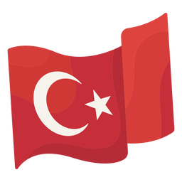 Waving flag istanbul illustration