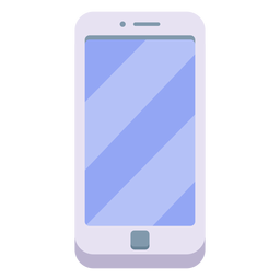 White smartphone illustration
