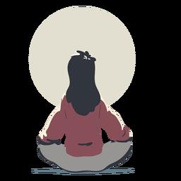 Mujer haciendo personaje de yoga