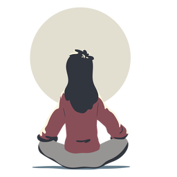 Woman doing yoga character