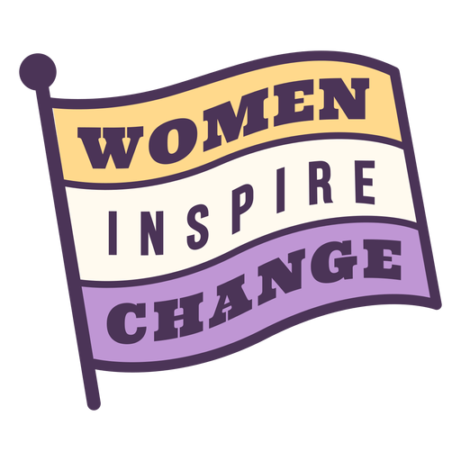 Women inspire change badge