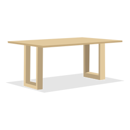 Ilustración de mesa de madera