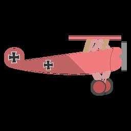 Ilustración de avión de combate ww1