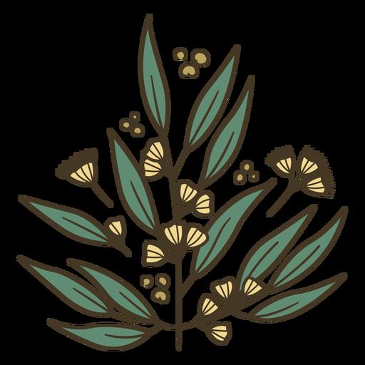 Ilustración de planta de flores amarillas