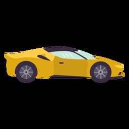 Carro esportivo amarelo liso