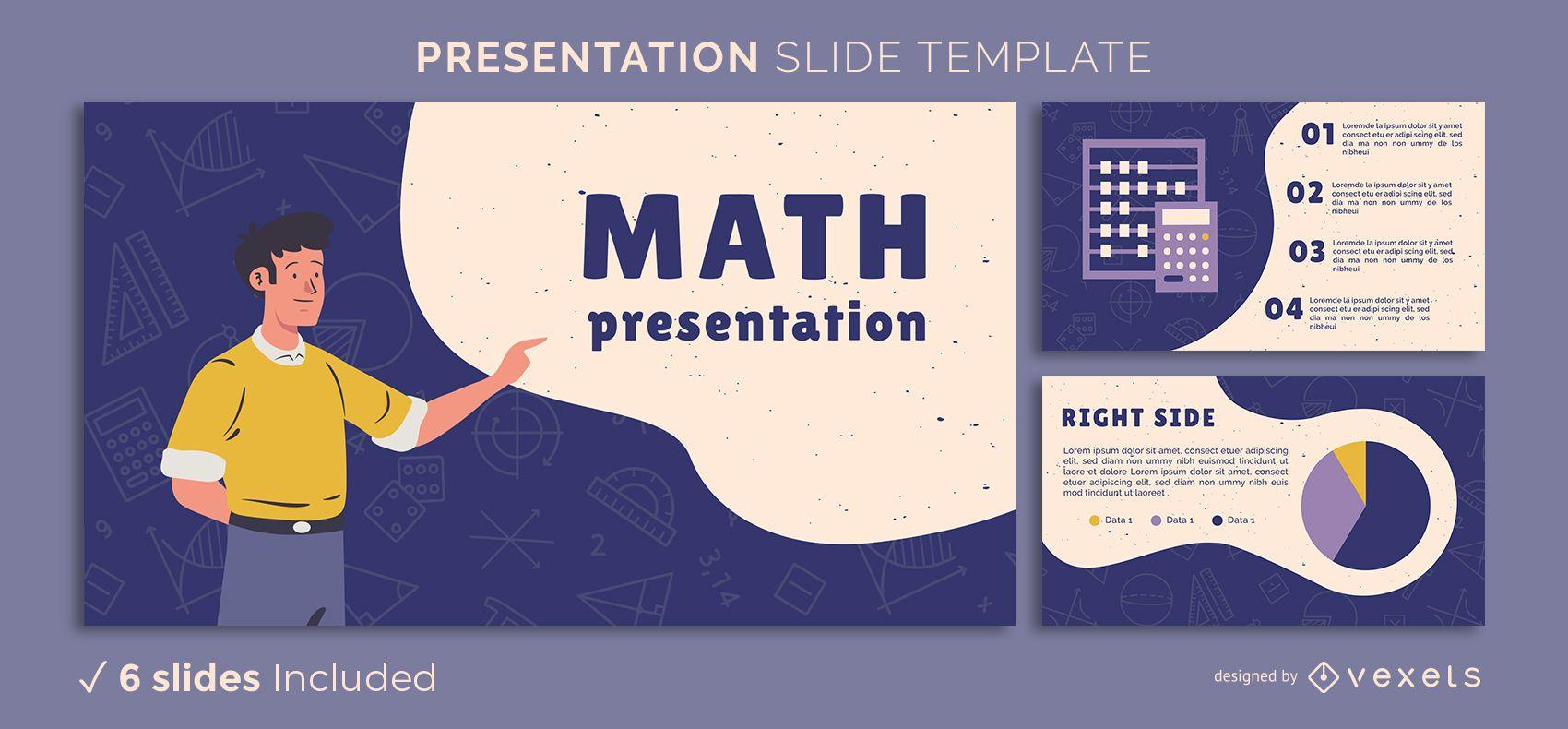 Modelo de apresentação matemática
