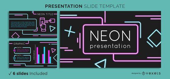 Modelo de apresentação de néon