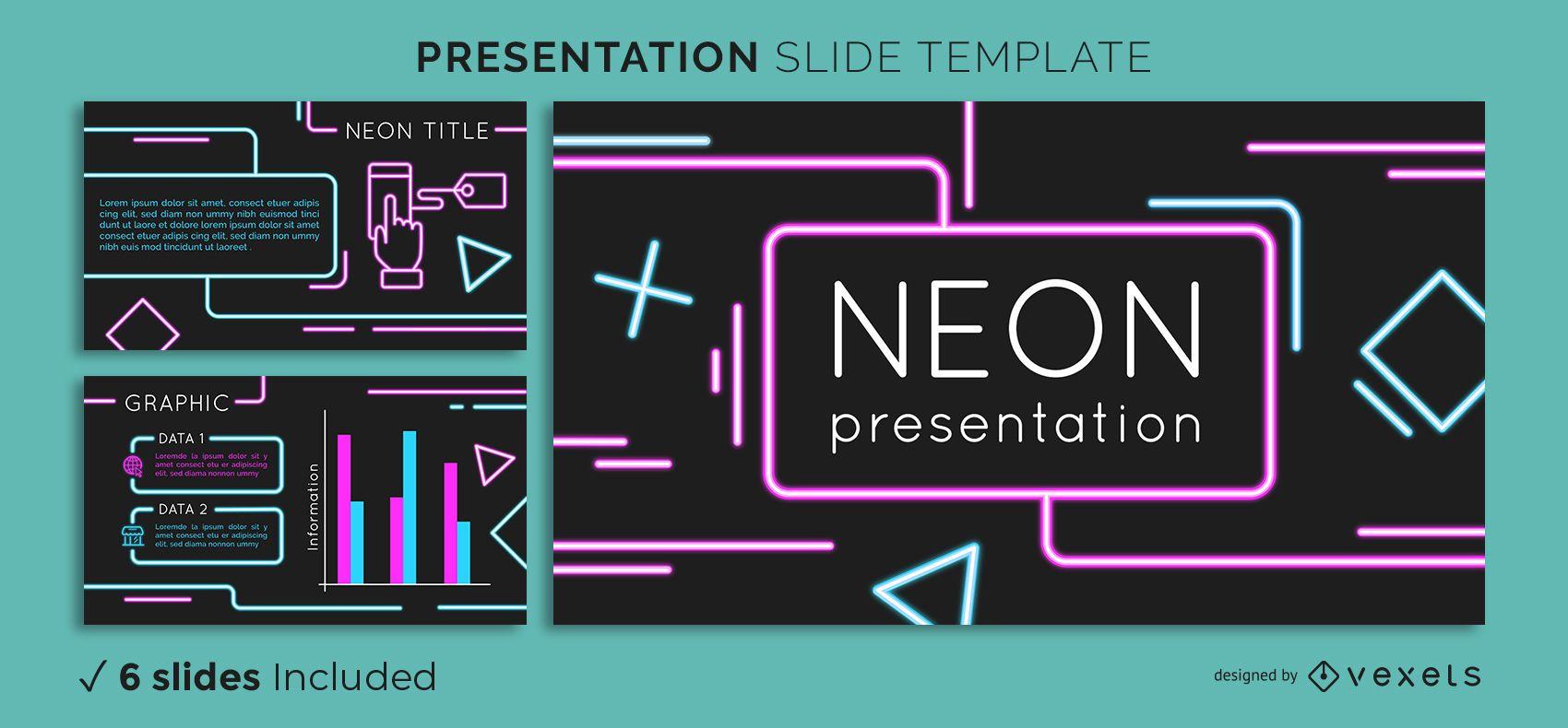Neon Präsentationsvorlage