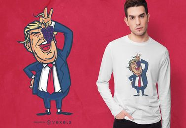Diseño de camiseta Trump Grapes