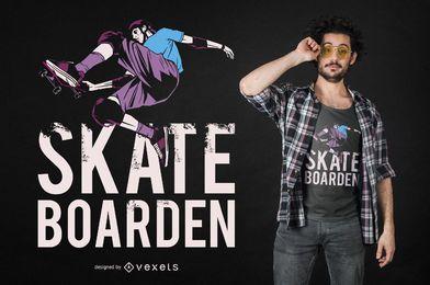 Diseño de camiseta de cita alemana de skateboard