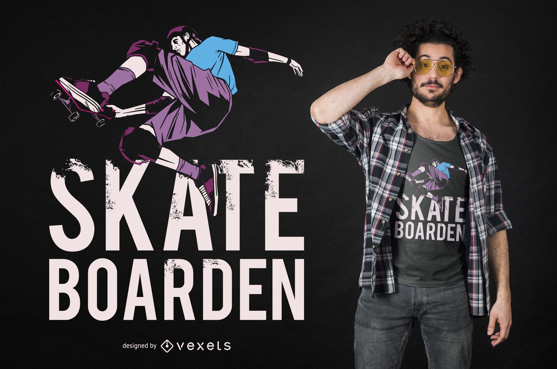 Diseño de camiseta Skateboard German Quote