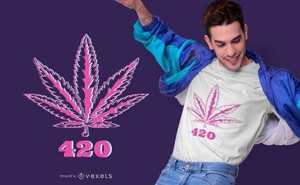 420 Hemp Leaf T-shirt Design